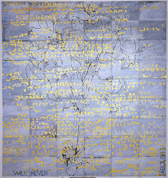 IMANTS TILLERS     Blossoming 25  2010 Acrylic, Gouche on 54 Canvas Boards 214 x 229