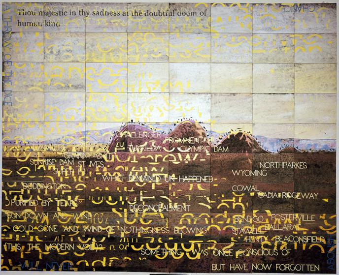 IMANTS TILLERS     Melancholy Landscape V  2010 Acrylic, Gouche on 72 Canvas Boards 302 x 229