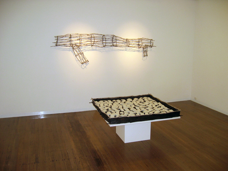 JOHN DAVIS   Gallery Installation -  Presence  +  Time Passes