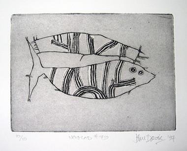 JOHN DAVIS    Nomad #79    1997   Lithograph   28 x 38 cm