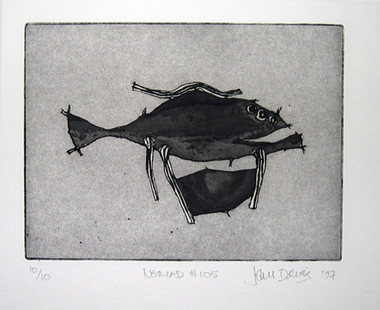 JOHN DAVIS    Nomad #105    1997   Lithograph   28 x 38 cm