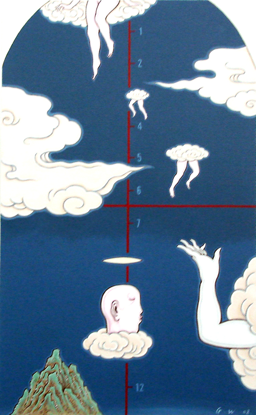 GUAN WEI     On Cloud No. 2  2008 Acrylic on canvas 130 x 80 cm