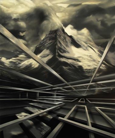 PETER DAVERINGTON    The Ascent    2009   Oil and Enamel on Canvas   183 x 154 cm