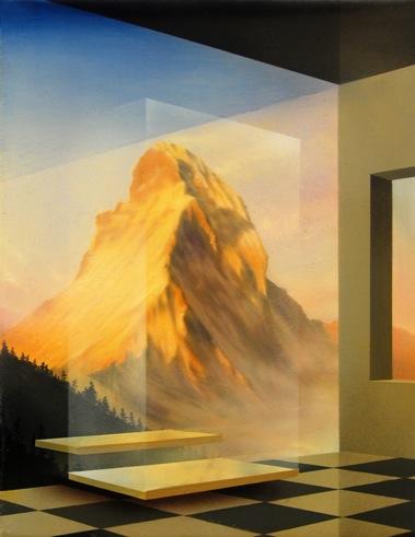 PETER DAVERINGTON    The Rising    2009   oil and enamel on canvas, framed   25 x 20 cm