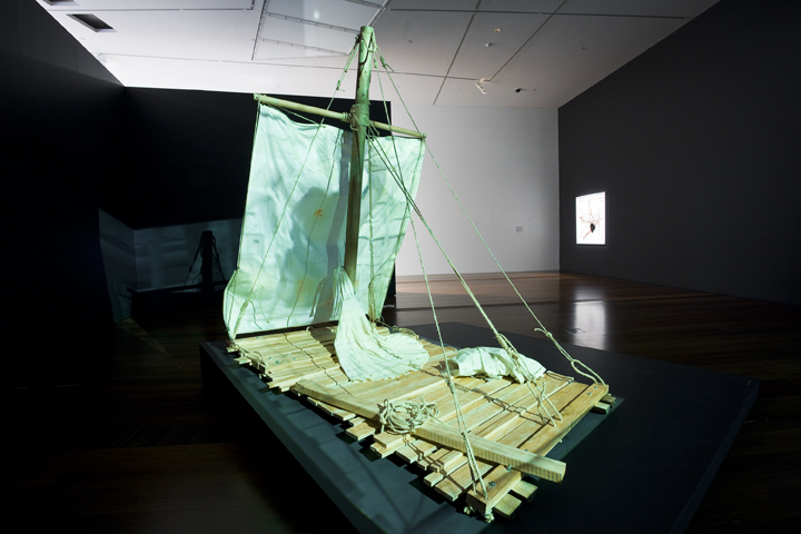 GUAN WEI    Escape Artist: Castaway  2009 Installation at the National Gallery of Victoria, Ian Potter Building, Melbourne