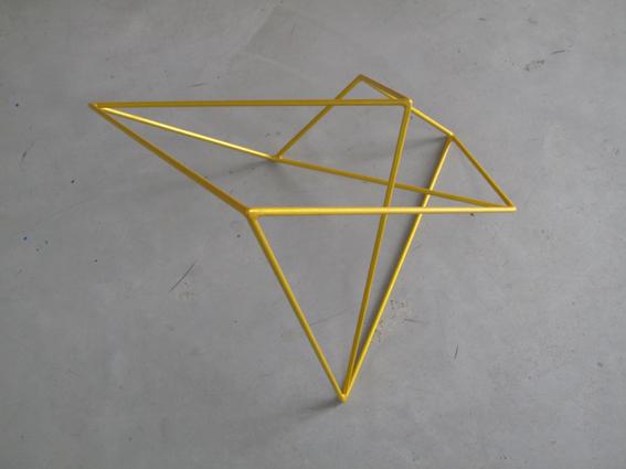 ROBERT OWEN     Metallic Yellow  2009 Painted Stainless Steel    66 x 60 cm