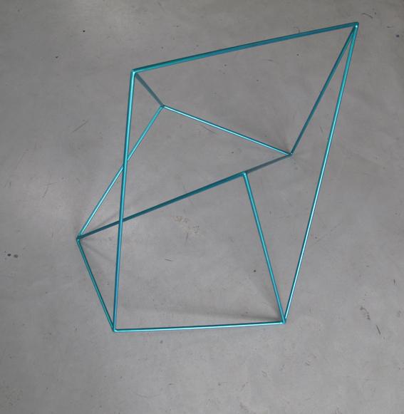 ROBERT OWEN     Metallic Light Green  2009 Painted Stainless Steel    75 x 55 cm