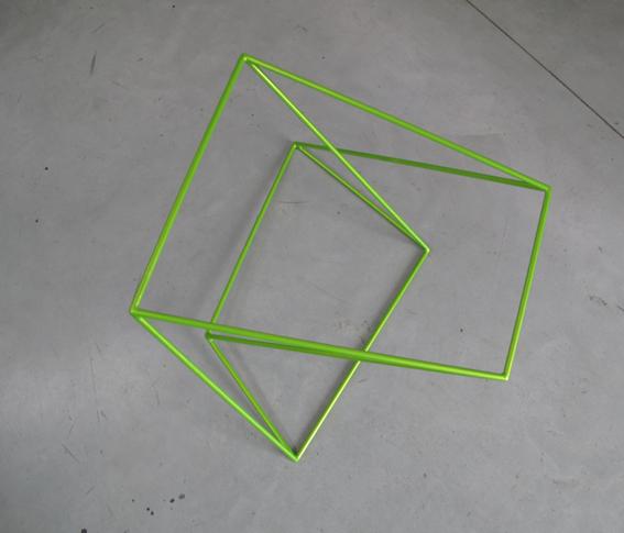 ROBERT OWEN     Metallic Green  2009 Painted Stainless Steel    80 x 65 cm