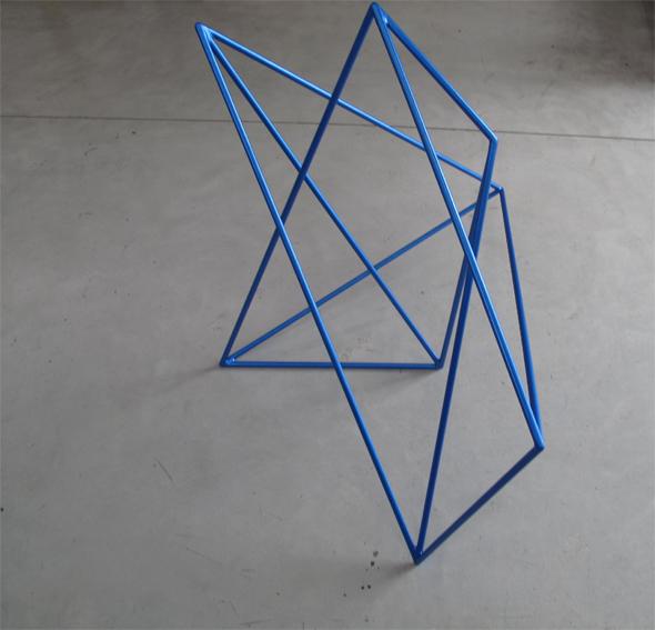 ROBERT OWEN     Metallic Blue  2009 Painted Stainless Steel     65 x 85 cm