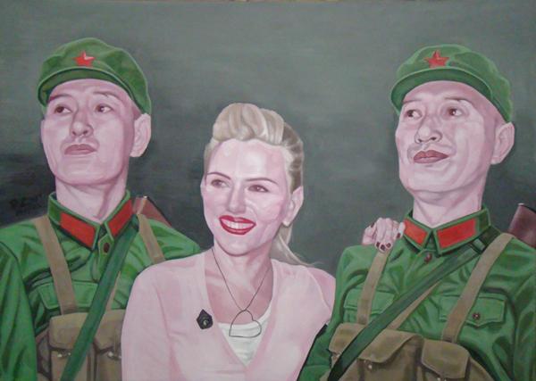 GUO JIAN     No.c  2009 Acrylic on canvas 152 x 213 cm