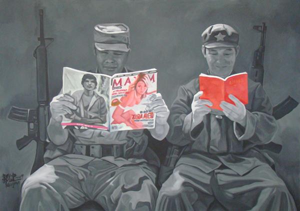 GUO JIAN     No.g  2009 Acrylic on canvas 152 x 213 cm