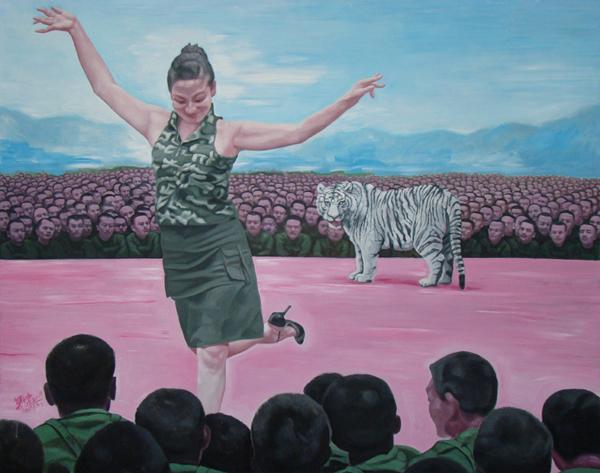GUO JIAN     No.b  2009 Acrylic on canvas   200 x 250 cm