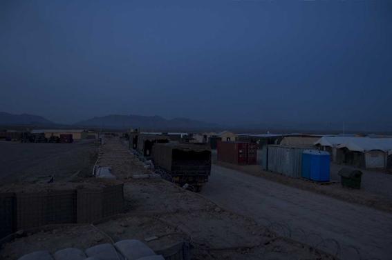 LYNDELL BROWN CHARLES GREEN     Before Dawn, Tarin Kowt Base, Uruzgan Province, Afghanistan  2007-08 Digital colour photographs, inkjet prints on rag paper, unframed 11  1.5 x 15  1.5 cm