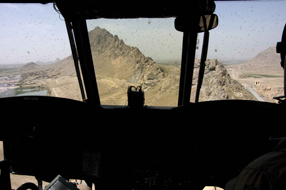 LYNDELL BROWN CHARLES GREEN     View from Chinook, Helmand Province, Afghanistan  2007-08 Digital colour photographs, inkjet prints on rag paper, unframed 11  1.5 x 15  1.5 cm