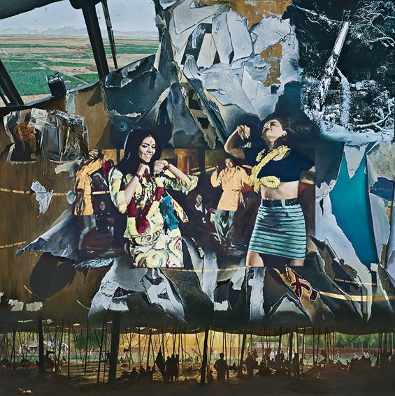 LYNDELL BROWN CHARLES GREEN     Hare Krishna Hare Ram  2008 Oil on linen 167.6 x 167.6 cm