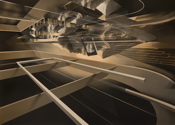 PETER DAVERINGTON     Arcadia  2008 Oil, acrylic & enamel on linen 153 x 213 cm