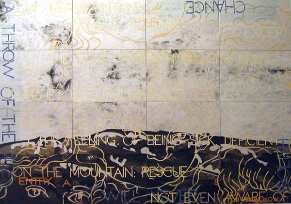 IMANTS TILLERS    Nature Speaks: AS  2007 acrylic, gouache on 16 canvasboards 143 x 102 cm