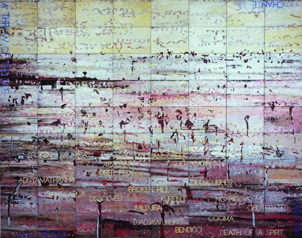 IMANTS TILLERS    Melancholy Landscape II  2007 Acrylic, gouache on 72 canvasboards 305 x 229 cm
