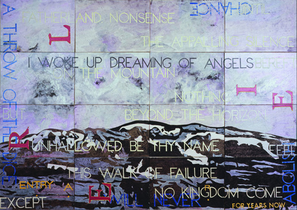 IMANTS TILLERS    Nature Speaks: AR  2007 acrylic, gouache on 16 canvasboards 143 x 102 cm