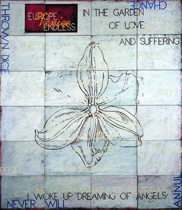 IMANTS TILLERS   Death of a spirit  2007 acrylic, gouache on 24 canvasboards 143 x 153 cm