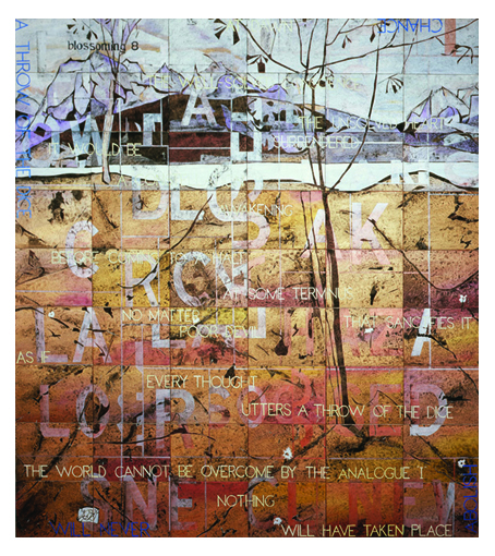 IMANTS TILLERS    Blossoming 8  2006 Acrylic, gouache on 54 canvas boards 214 x 229 cm