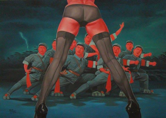 GUO JIAN    Untitled  2007 Oil on canvas 153 x 213 cm