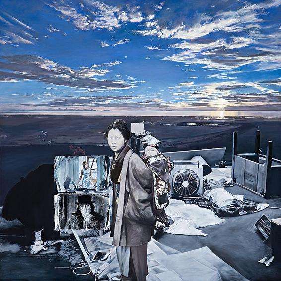 LYNDELL BROWN CHARLES GREEN    Ghost Story (Elemental Landscape, 1970-1975)  2006 Oil on Linen 152 x 152 cm