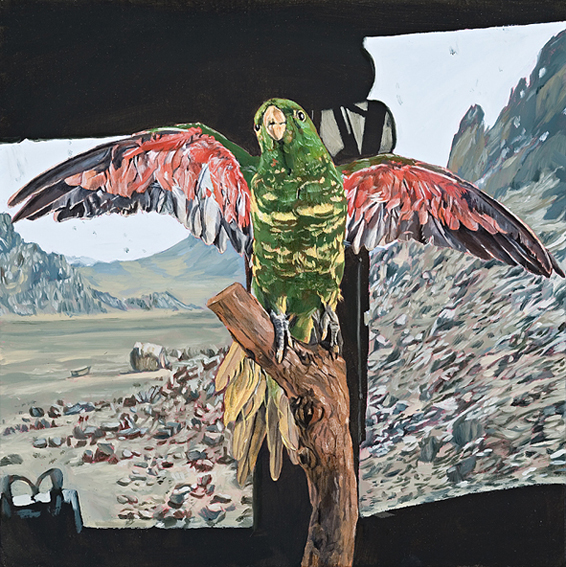 LYNDELL BROWN CHARLES GREEN    Helmand  2007 Oil on Linen 31 x 31 cm