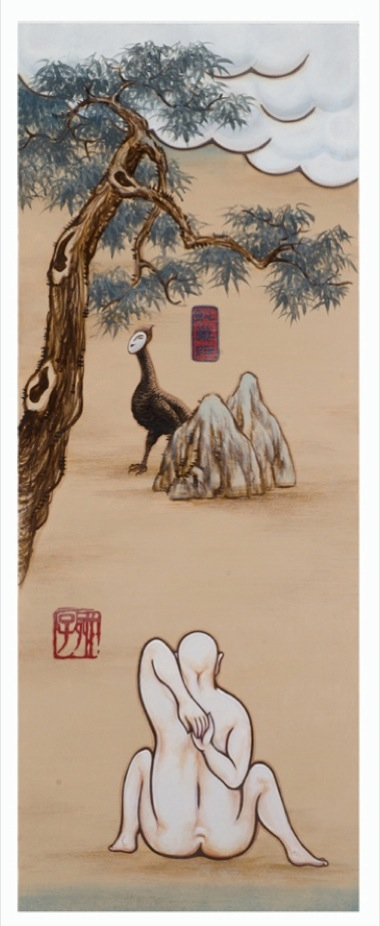 GUAN WEI   A Mysterious Land No.3  2007 Acrylic on canvas  130 x 50   cm