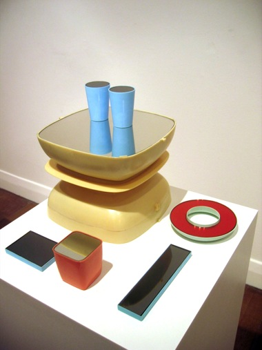 JACKY REDGATE    HATCH    2007   wood, plastic & mirrors 45 x 28 cm