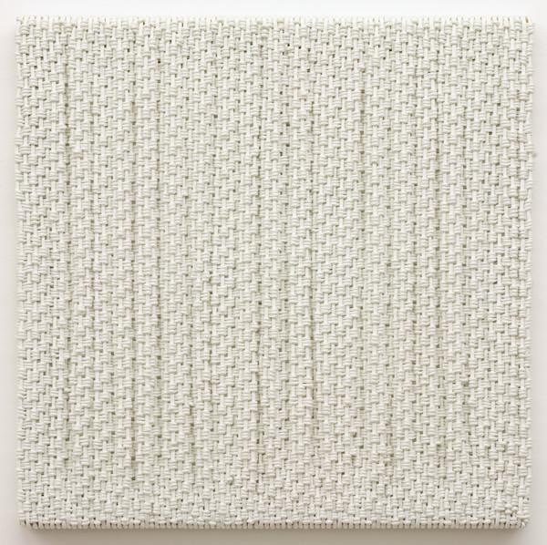 DANI MARTI     Canvas  2007 Polyester / nylon rope/ wood 95 x 95 cm