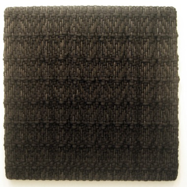 DANI MARTI    Goyesca (Alba gently lies down) (Variations in a serious black Dress #3)    2007   Polypropylene / nylon rope/ wood 200 x 200 cm