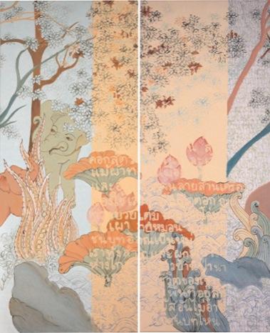 PHAPTAWAN SUWANNAKUDT     ONE IS ALL/PAIR G & H    2007   Acrylic on canvas 90 x 8  0 cm