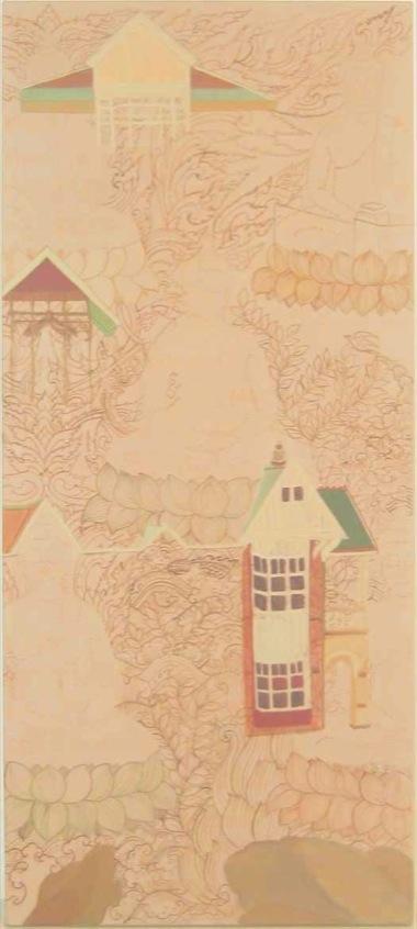 PHAPTAWAN SUWANNAKUDT     ONE IS ALL- D    2007   Acrylic on canvas 90 x 4  0 cm