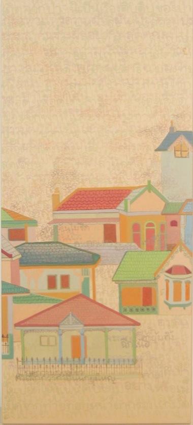 PHAPTAWAN SUWANNAKUDT     ONE IS ALL- C    2007   Acrylic on canvas 90 x 4  0 cm