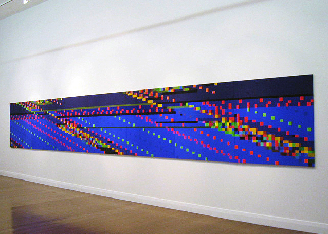 ROBERT OWEN     Witness Facing East  2005-2006 Synthetic Polymer Paint on Linen (6 panels)