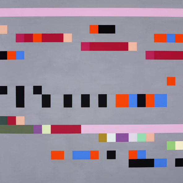 ROBERT OWEN     Study for Mantra #1b  150 x 150 cm Synthetic Polymer Paint on Linen