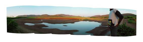 PETER CALLAS     Blueprint  2001 Digital print on photographic paper   89.45 x 304 cm