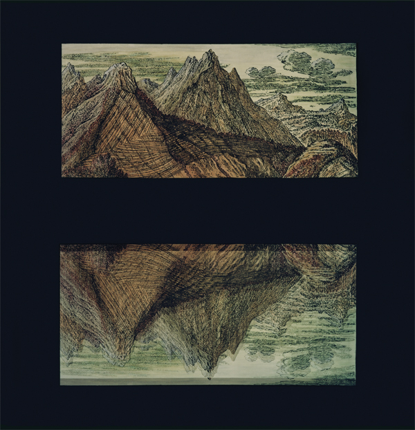 ROSE FARRELL GEORGE PARKIN     Traces of the Flood: Scarred Mountain and Valley  2000 Type C Photograph 180 x 156 cm