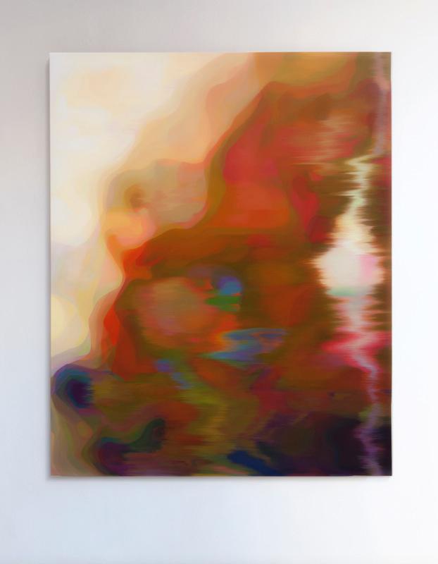 JOHN YOUNG     LKM (Gold)  2015 Oil on linen 156 x 126 cm