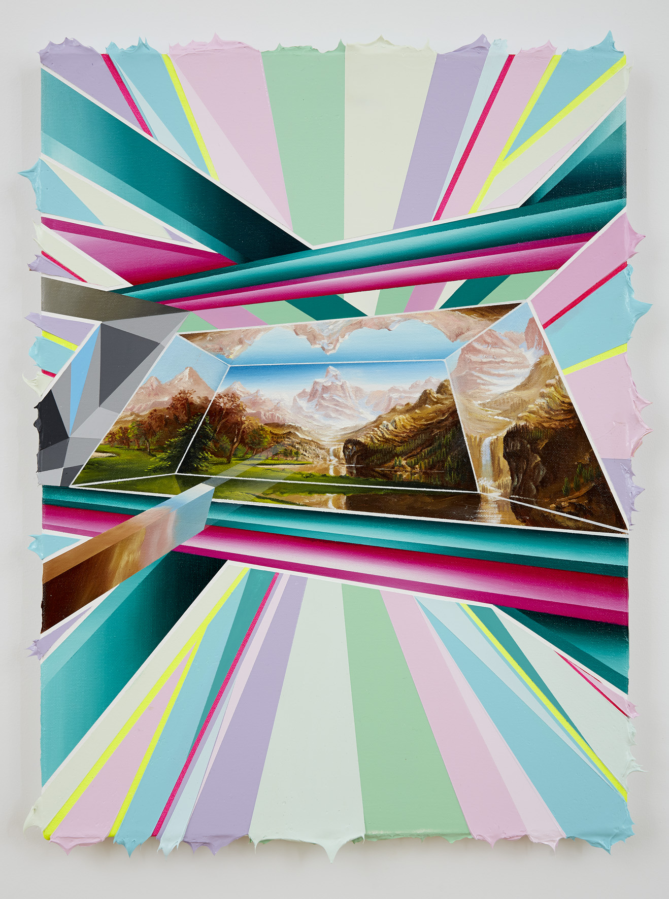 PETER DAVERINGTON    Into The Never #2    2013   50 x 64 cm   Oil and acrylic on canvas