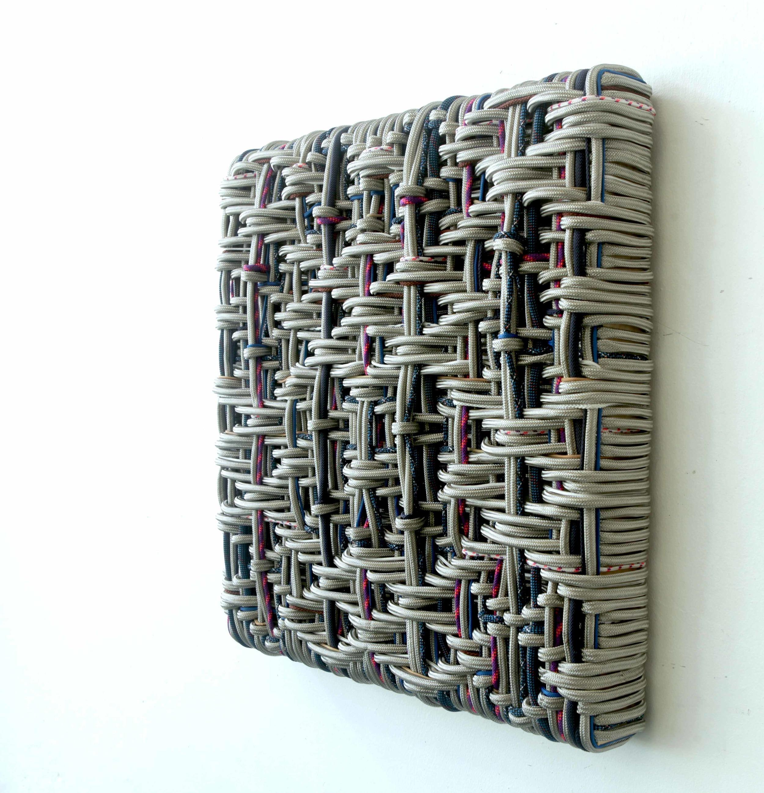 DANI MARTI    Shield    2013   65 x 65 cm   stainless steel , polyester, nylon on wood frame