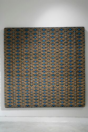 DANI MARTI    Un fraile y un muchacho, take 1    2006   200 x 200 cm   Sisal rope, polyester, industrial rubber and protective tubular mesh