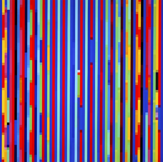 Melatonin Shift #3 , 2005, Synthetic polymer paint on linen 198 x 198 cm