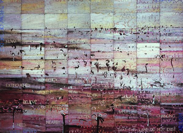 Melancholy Landscape I   , 2007 ,  Acrylic, gouache on 72 canvasboards, 229 x 305 cm