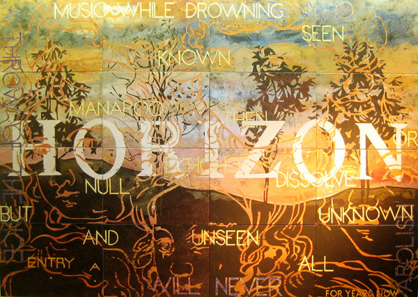 Nature Speaks: AF , 2007, Acrylic, gouache on 16 canvasboards, 101.6 x 142.2 cm