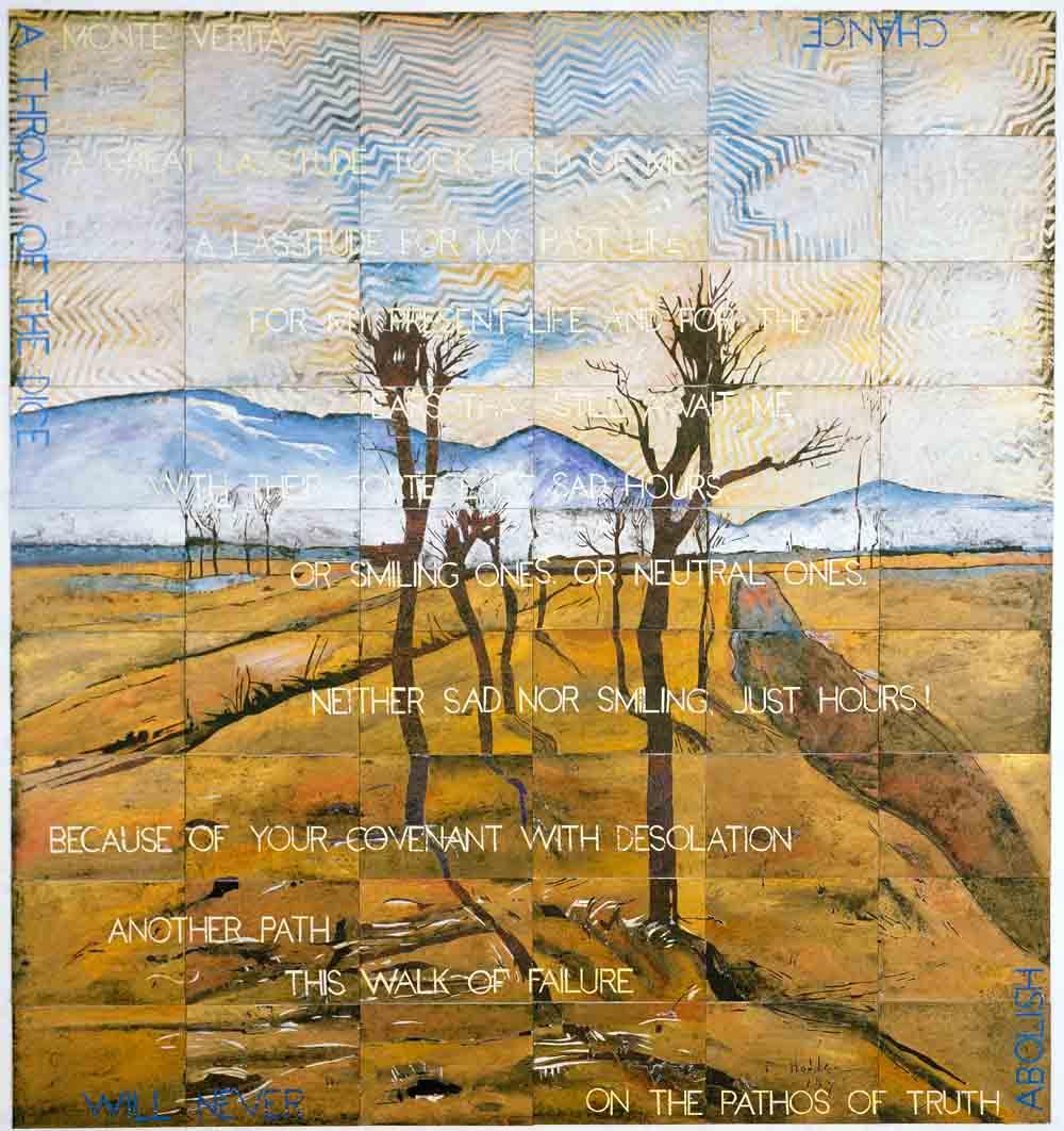 Monte Verita , 2015, Acrylic, gouache on 54 canvas boards, 210 x 228 cm