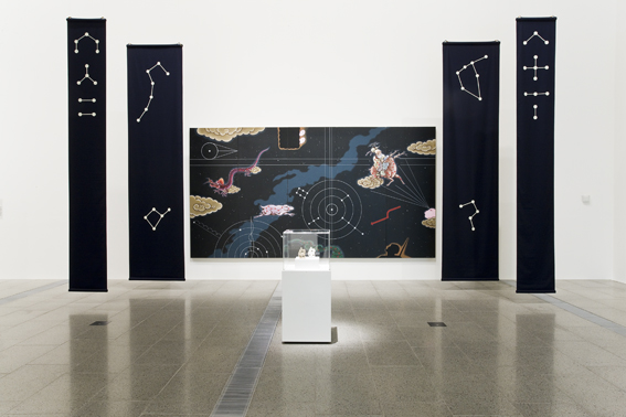 The God of Longevity   , 2008, Installation at the National Gallery of Victoria, Ian Potter Building, Melbourne, 450 x 240 cm