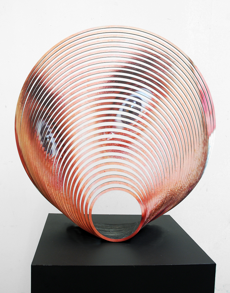 JUSTINE KHAMARA   Scalloped 2  2015 Laser-cut UV print on hoop pine plywood, acrylic paint 55 x 55 cm