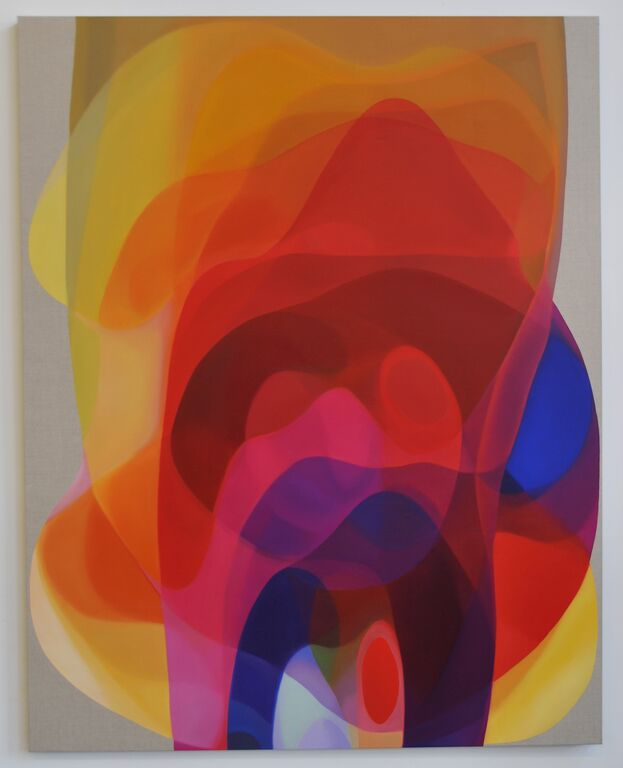 JOHN YOUNG   Veiled Spectrum IV  2014 Oil on linen 190 x 150 cm